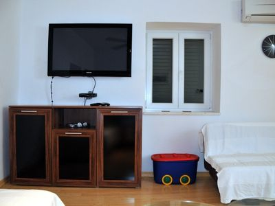 Living Room - 42 Inch TV, Satellite, DVD Player, Playstation 2, Hi-Fi System