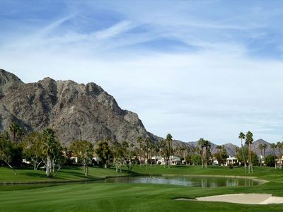 La Quinta condo rental - STUNNING MOUNTAIN & LAKE & GOLF COARSE VIEWS FROM OUR BACK PATIO !!!