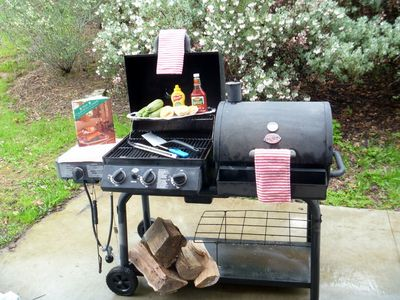 Large BBQ Pit - free chopped wood is included with your stay