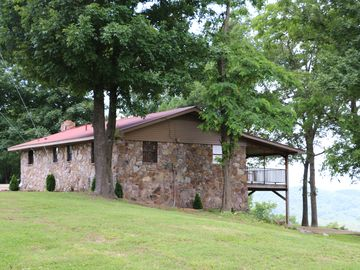 Mountain View lodge rental - Overlook Lodge is set on 40 private acres with security gate access