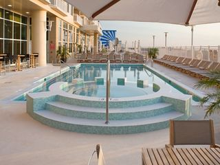 Gateway Grand Ocean City condo photo - Outside pool with 230ft oceanfront sundeck.