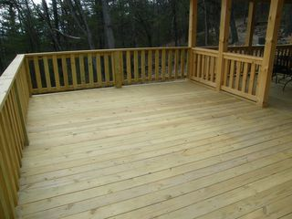 Luray cabin photo - open deck for relaxing or sunbathing