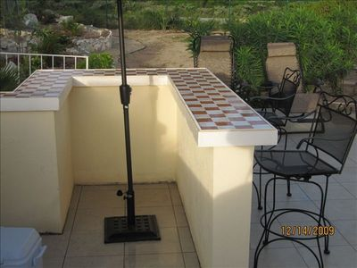 North Caicos villa rental - Private backyard patio, bar and BBQ area. Entertain yourself or some friends.