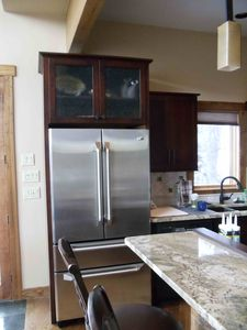 High end appliances in new kitchen