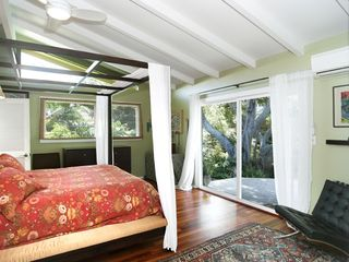 Kailua house photo - Master bedroom off dining room with separate deck