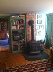 Stephentown cottage photo - Living Room warmed by wood stove