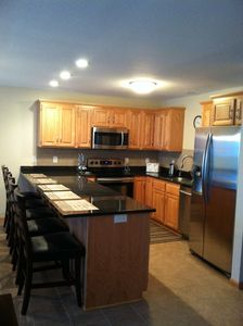 Kitchen - new appliances, granite countertop, furnished w/dishes, pots, etc