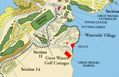 Marina, beach area, Clubhouse/restaurant, pool, and playground are steps away