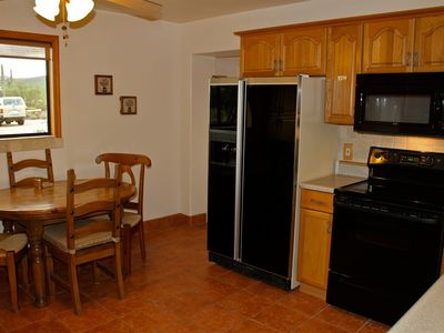 Eat In Kitchen with newer appliances and plenty of cupboard space.