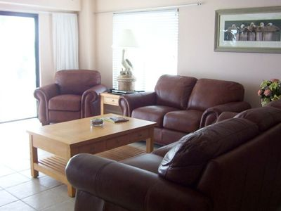 Madeira Beach condo rental - Relax in the comfortable living room!