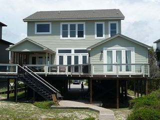 Folly Beach house rental - View of House from Beach