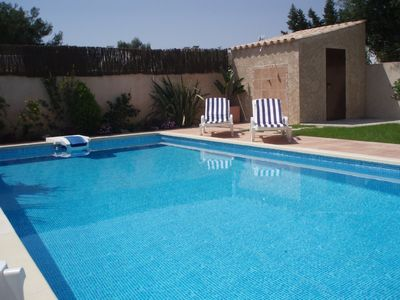 Port d'Alcudia house rental - pool and garden