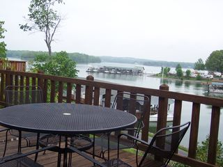 Huddleston house photo - Imagine yourself having lunch right here on our deck with great lake views!