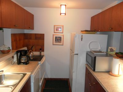 Poipu condo rental - Glass top stove, dishwasher, coffee&tea pots microwave,crock-pot,blender, etc.
