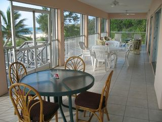 Grand Cayman villa photo - 52' Screened in Porch with Great views and Breezes
