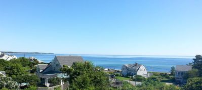 Our view of Cape Cod Bay from the backyard