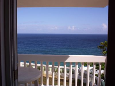 Enjoy your meals from inside looking out to the ocean or on your large balcony