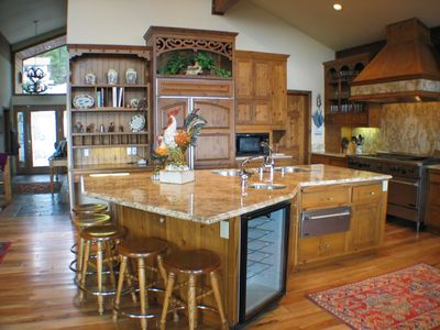 Incline Village house rental - Fabulous kitchen with lake views.