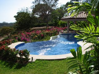 Nosara house photo - Bougainvillea by the Pool