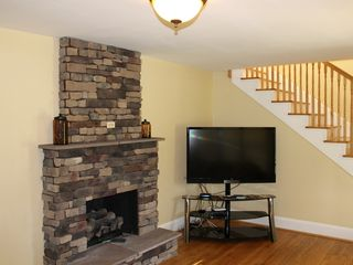 Harpers Ferry house photo - stone firepace with big screen hd tv and wireless cable internet