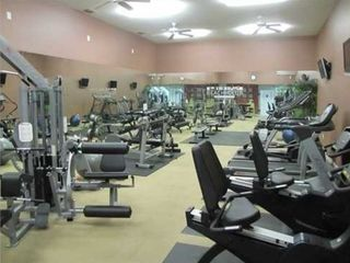 North Padre Island condo photo - 24 hour fitness room at clubhouse with a sauna