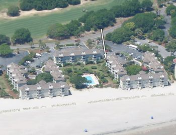 Aerial view of Port 'O Call Villas