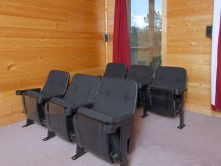 Wears Valley cabin photo - Wears Valley Cabin Theater Room, 6 Theater Chairs, DirecTV Hi Def,Surround Sound