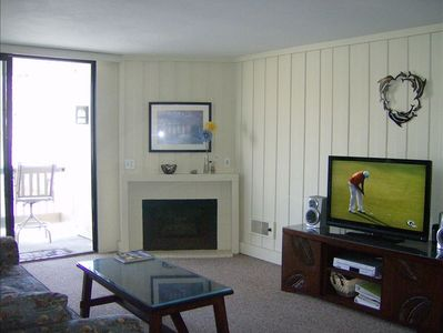 Wide screen TVs in both living and bedroom. Spectacular views & location!