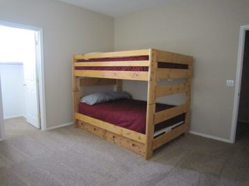 4th Bedroom - two full size mattresses with walk in closet.