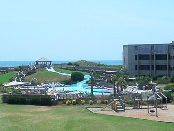 Atlantic Beach condo rental - View of Slide, Playground and Ocean from Balcony