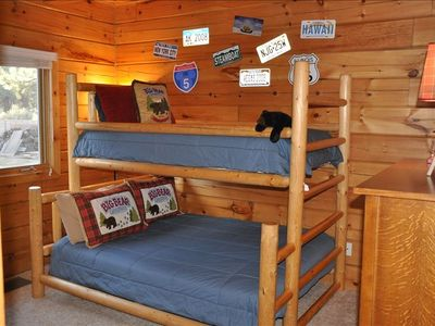 Bedroom #3 with Full/Twin bunk bed.