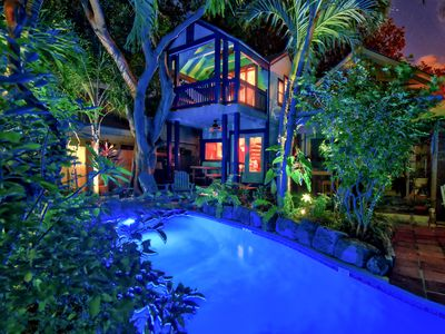 **SPARKLING**private home in Old Town Key West + 70' Lazy River POOL + 2 BIKES