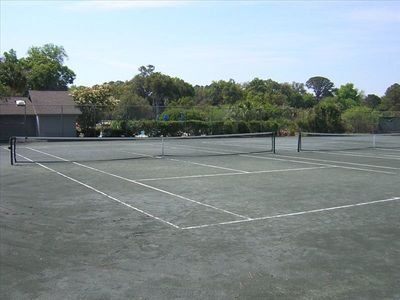 Three recently resurfaced clay courts