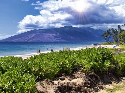 Gorgeous West Maui Mountains view just steps away from Kihei Akahi property.