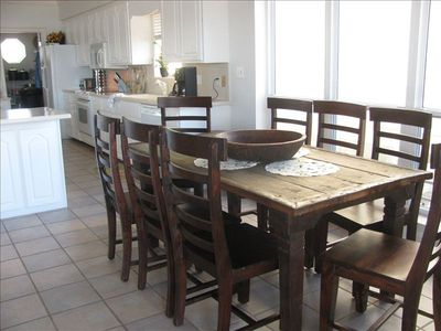 St George Island house rental - Fabulous reclaimed dining collection