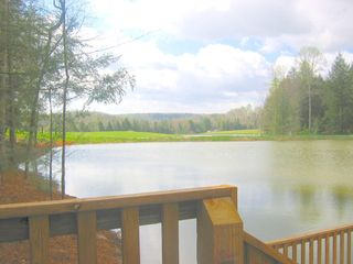 beautiful TN vacation rental- back porch view - Muddy Pond cabin vacation rental photo