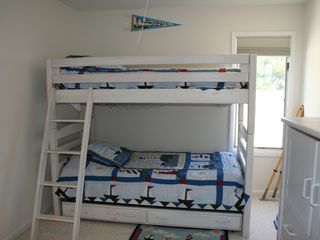 Bedroom #5 with bunk beds and trundle underneath - Barnegat Light house vacation rental photo