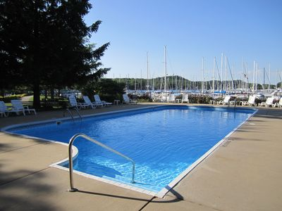 Heated Pool at Tower Marina