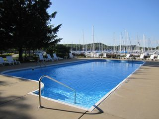 Heated Pool at Tower Marina - Saugatuck / Douglas townhome vacation rental photo