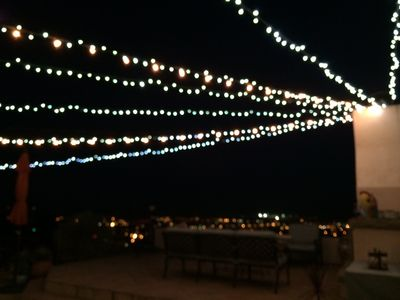 Outdoor Deck with Twinkle Lights