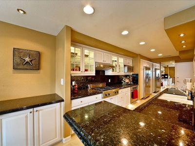 Spacious kitchen with high end appliances