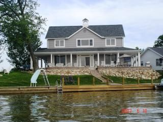 zettler cottage waterfront with sunset view