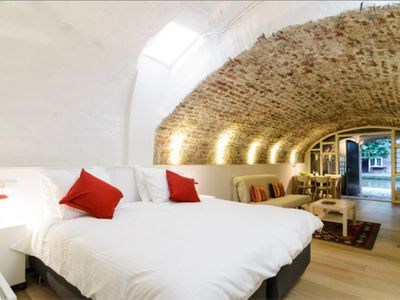 Modern Comfort in Medieval Wharf Cellar in the Centre of Utrecht