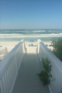 Walkway right onto the beach from Fairview gulf side deck. PRIVATE walkover!!!