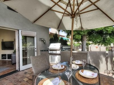 Relax and enjoy your private patio with barby after a long day at the beach