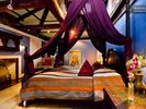 Boston apartment photo - Bedroom suite with king feather bed, tent-canopy, ambiance lighting.