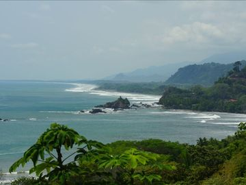 Sweeping shoreline view to Manuel Antonio National Park