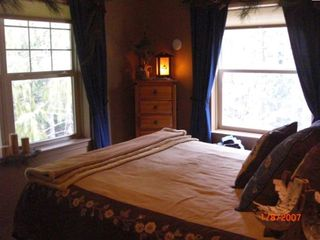 Master Bedroom, private view into forest