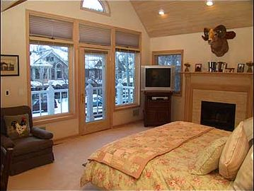 Master Bedroom with Deck and views