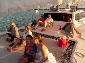 Enjoy a free sunset cruise, relax, and have fun...